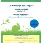 Printemps des langues - 8 avril 2019
